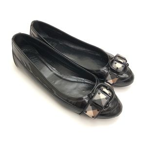 Burberry black casual slip on flats size EU 39.5